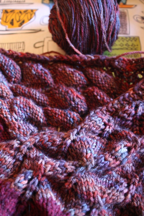 Kiri shawl wip Jan 2015