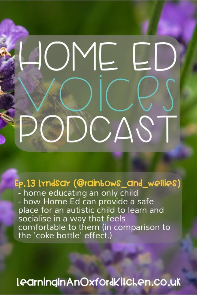 Home Ed Voices Podcast - Ep13 Lyndsay (@Rainbows_and_Wellies)